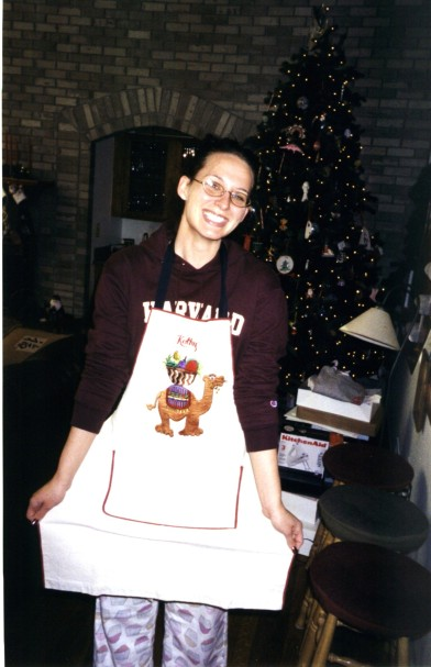 Always Mom's helper when it comes to Christmas cookies. Plus, I get first dibs on them straight out of the oven!