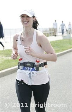 The smiliest I have EVER been at a finish line. You'd never know my body was trying to kill me (literally).