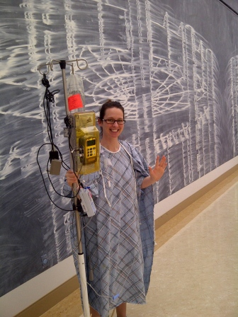They don't let you go running in a hospital gown...with an epidural.