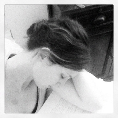 Last summer, napping on my Histology notes. This summer, napping while re-watching Mad Men. I like this summer better.
