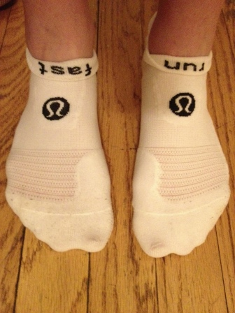 My socks told me to run fast, so I did. Well, I ran fast for me, anyway. 10K @ 7:34min/mile.