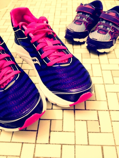 I buy my 16 month old niece matching running shoes. Cuz that's how I roll.