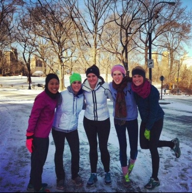 These are MY runners. You'll notice they're all bundled up and ready to run in the cold AND the snow. I heart my runners.