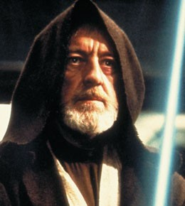 """""""Use the Force. Stretch out your feelings"""". Obi-wan's always so smart."""