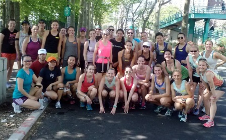 Just your average Saturday run. You know, with 30 of your closest running buddies, sweating it out.
