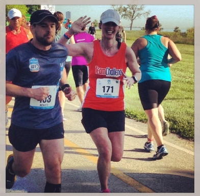 Smiling at mile 9? Must be the mid-week long runs kicking in.