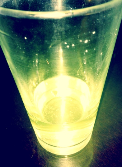 Magic, glowing, lemon-colored rehydrating stuff!