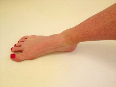 The early stages of my AWESOME sock tan line. I will be full-on farmer in a few short weeks.
