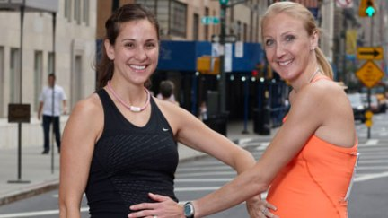 Two of my favorite runners all pregnant and stuff. (Image courtesy of Runner's World)