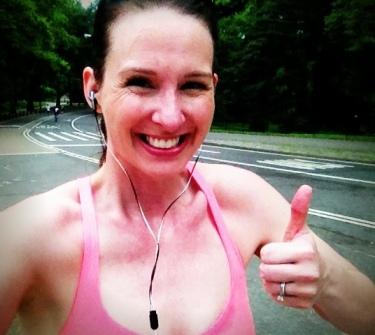 Happy naked runner.
