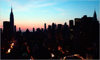 Northeast Blackout of 2003. (Image courtesy of the New York Times)