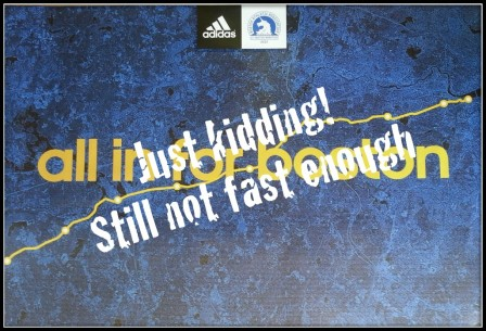This would be so frustrating. (Image courtesy of the BAA and ADIDAS)