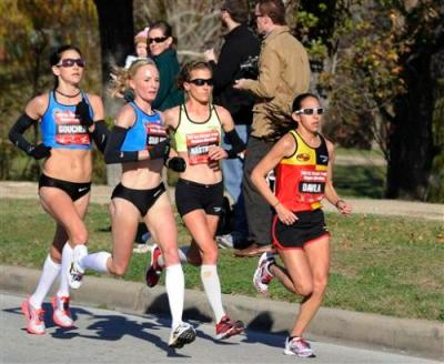 Kara Goucher, Shalane Flanagan, Amy Hastings, Desiree Davila