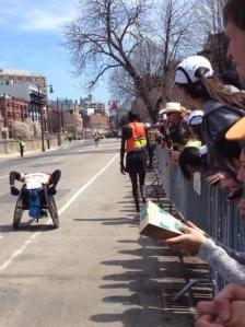 Dennis Kimetto at the Boston Marathon in 2014. He dropped out. On Sunday he ran 2:02:57 and broke the Men's World Record in the Marathon. (Via Luke Maher @LWarrenMaher on Twitter)