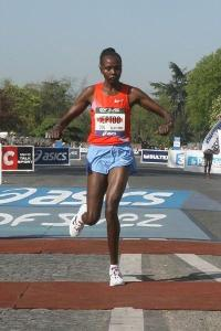Except Priscah Jeptoo. Her form is crazy but she still smokes the field. 1% anomaly.  (Image courtesy of iaaf.org)