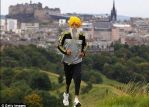 Fauja Singh, age 101.  (Image courtesy of Getty Images)