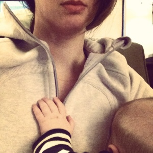 Pudgy hand on my chest = heart melt.